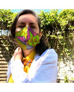 Afrikaans mondkapje, Ankara Facemasks, Covid-19 Mask, Fashion Mask!